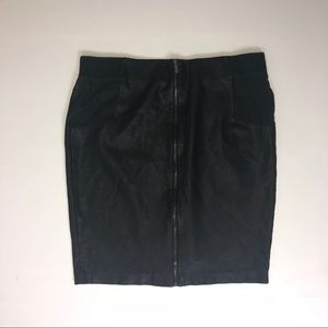 Forever 21 Black Faux Leather Skirt